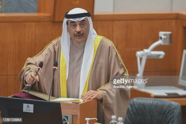 Kuwaits Prime Minister Sheikh Sabah Al Khalid Al Sabah attends the first parliamentary session following the elections, in Kuwait City, Kuwait on...