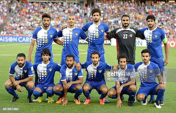 Kuwait's team poses for a photo before their game against Oman in their Group A football match of the AFC Asian Cup in Newcastle on January 17 2015...