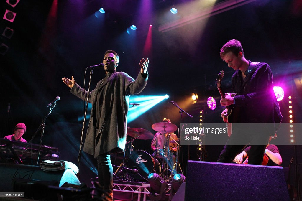 Kwabs performs on stage for MTV Brand New For 2014 Showcase at Islington Assembly Hall on January 30, 2014 in London, United Kingdom.
