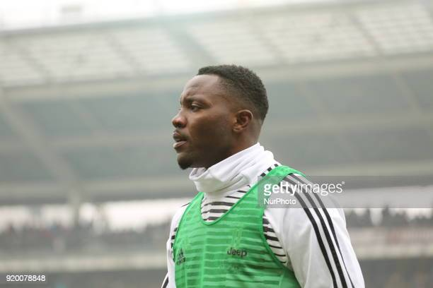 Kwadwo Asamoah before the Serie A football match between Torino FC and Juventus FC at Olympic Grande Torino Stadium on 18 February 2018 in Turin...