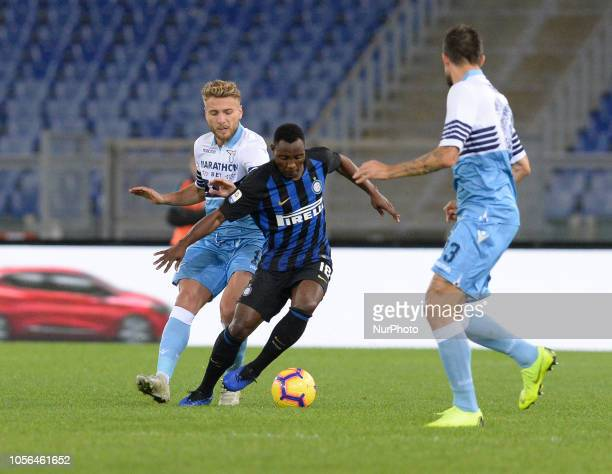 Kwadwo Asamoah during the Italian Serie A football match between SS Lazio and Inter at the Olympic Stadium in Rome on october 29 2018