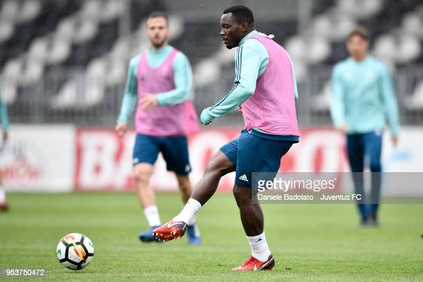 Kwadwo Asamoah during the Juventus training session at Juventus Center Vinovo on May 2 2018 in Vinovo Italy