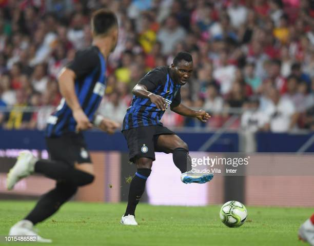 Kwadwo Asamoah of FC Internazionale in action during the International Champions Cup 2018 match between Atletico Madrid and FC Internazionale at...