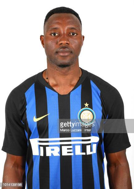 Kwadwo Asamoah of FC Internazionale poses with the club shirt during the FC Internazionale training session at the club's training ground Suning...