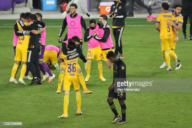Kwadwo Opoku of Los Angeles FC walks away dejected as Tigres UANL defeats Los Angeles FC during the CONCACAF Champions League final game at Exploria...