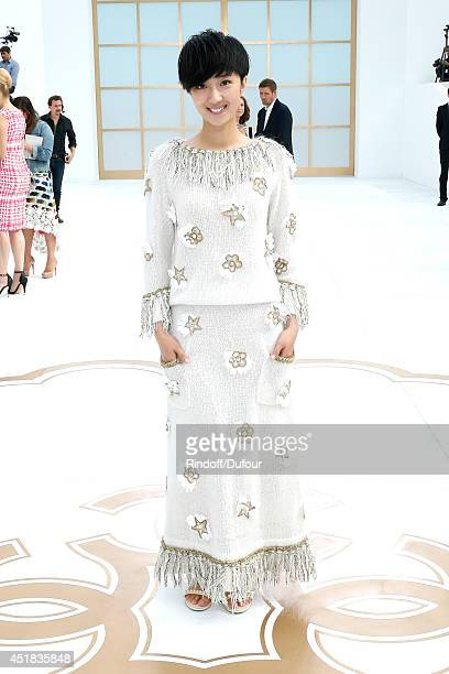 Kwai LunMei attends the Chanel show as part of Paris Fashion Week Haute Couture Fall/Winter 20142015 Held at Grand Palais on July 8 2014 in Paris...
