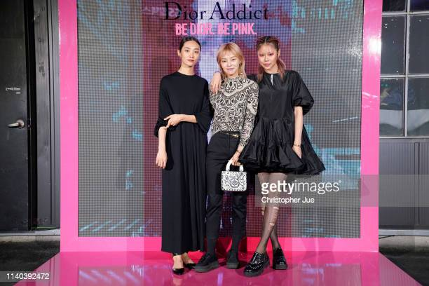 Kwak Ji Young Song Hae Na and Ahn Ah Reum attend Dior Addict Stellar Shine launch at Layers 57 on April 04 2019 in Seoul South Korea