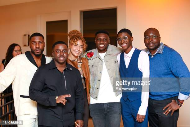 Kwaku Osei-Acheampong, Enoch, Asali, Gabriel Osei-Acheampong, Denim Steele, and Joab Odeni attend The One And Only, Dick Gregory, Album Release Event...