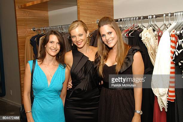 Kwala Mandel Amy Smart and Kristin Eberts attend Opening of AURA hosted by Kristin Eberts and Amy Smart at Los Angeles on August 16 2006