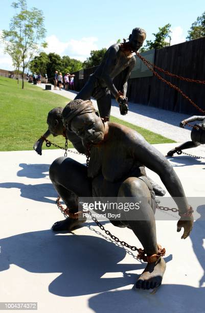 Kwame Akoto-Bamfo's 'Nkyinkim' sculpture...dedicated to the memory of the victims of the Transatlantic slave trade is on display at The National...