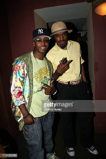 Kwame and Andre Andre 3000 Benjamin during Volkswagen ip Host Idlewild Dinner and After Party at Providence in New York City New York United States