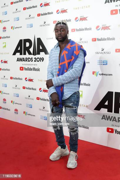 Kwame arrives for the 33rd Annual ARIA Awards 2019 at The Star on November 27, 2019 in Sydney, Australia.