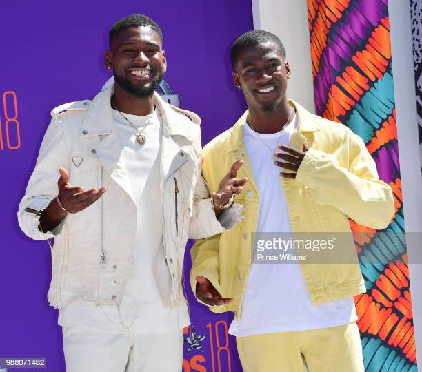 Kwame Boateng and Kwesi Boakye arrive to the 2018 BET Awards held at Microsoft Theater on June 24 2018 in Los Angeles California