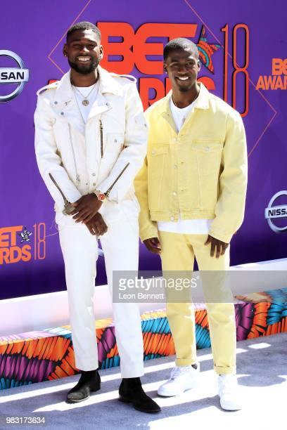 Kwame Boateng and Kwesi Boakye attend the 2018 BET Awards at Microsoft Theater on June 24 2018 in Los Angeles California