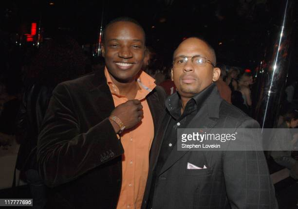 Kwame Jackson and Carlos Narcisse during Grey Goose VIP Lounge at the VH1 Save The Music A Concert To Benefit The VH1 Save The Music Foundation After...
