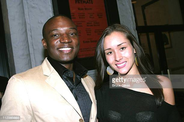 Kwame Jackson and girlfriend April Wilkner during Opening Night of Prymate on Broadway at The Longacre Theatre/ Tavern on The Green in New York NY...