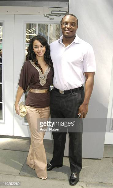 Kwame Jackson and Jessica Caban during Olympus Fashion Week Spring 2006 Michael Wesetly Menswear Spring 2006 at The Tents at Olympus Fashion Week in...