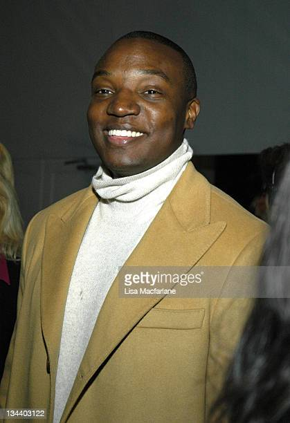 Kwame Jackson during Olympus Fashion Week Fall 2006 Michael Wesetly Front Row at Bryant Park in New York City New York United States