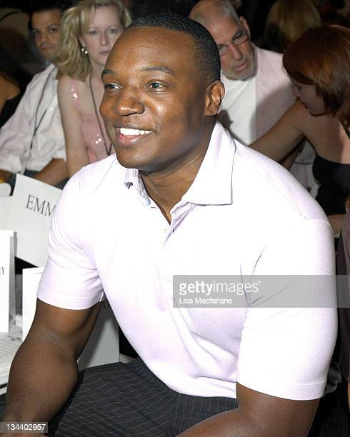 Kwame Jackson during Olympus Fashion Week Spring 2006 Michael Westley Front Row at Bryant Park in New York City New York United States
