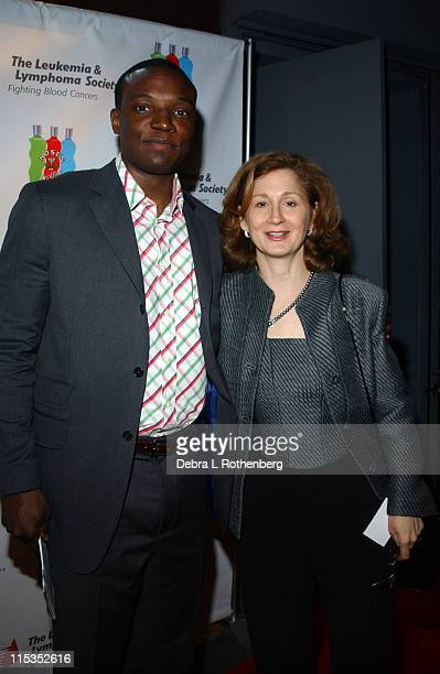 Kwame Jackson with Susan Gessner Deputy Executive Director of the Leukemia Lymphoma Society *Exclusive*