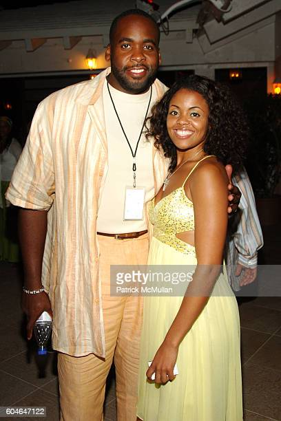 Kwame Kilpatrick and Sanche Durham attend BERMUDA MUSIC FESTIVAL 2006Day 1 at Fairmont Southampton Beach Club on October 4 2006 in Whaler Inn Bermuda