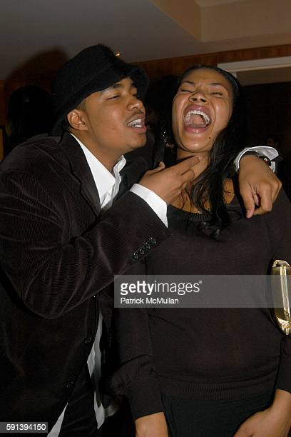 Kwame Morris and Chiara Hardaway attend Private Dinner in Celebration of Kai Milla's Debut Fashion ShowLe Parker Meridien on February 10 2005 in New...