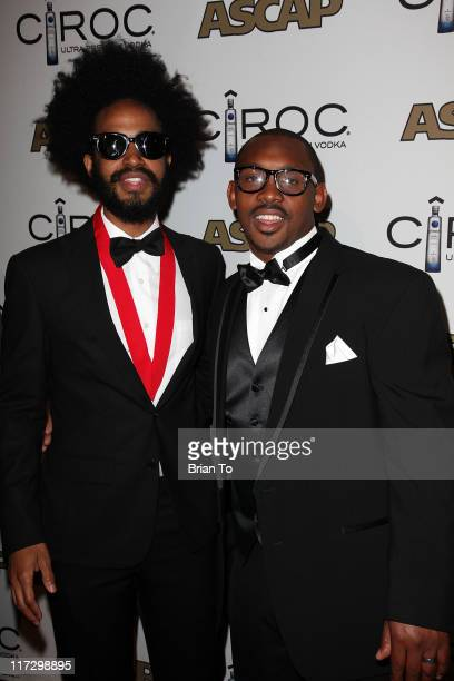 Kwame Morris and Mumataz Morris attend 24th annual Rhythm Soul music awards at the Beverly Hilton hotel on June 24 2011 in Beverly Hills California