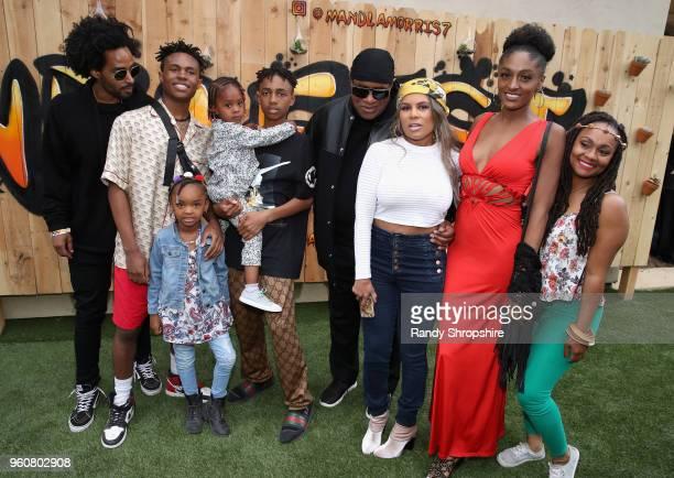 Kwame Morris Kailand Morris Nia Morris Mandla Morris Musician Stevie Wonder Kai Millard Sophia Morris and Tia Curtis attend MANDAFEST Mandla Morris'...