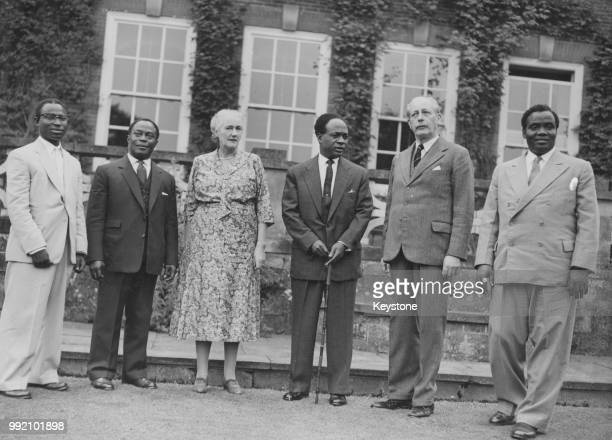 Kwame Nkrumah Prime Minister of Ghana as a guest at the country home of British Prime Minister Harold Macmillan at Chelwood Gate East Sussex during a...