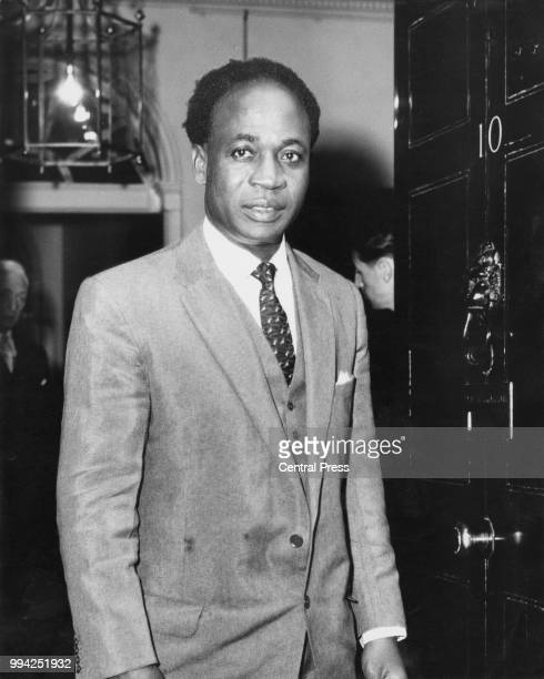 Kwame Nkrumah the Prime Minister of Ghana arrives at 10 Downing Street for talks with British Prime Minister Harold Macmillan 2nd May 1960 Nkrumah is...