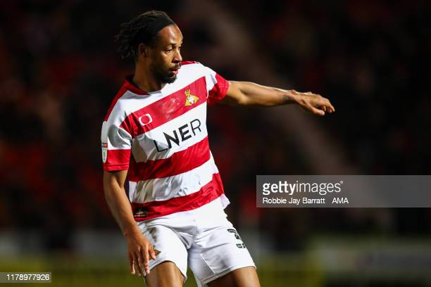 Kwame Thomas of Doncaster Rovers during the Leasingcom Trophy match fixture between Doncaster Rovers and Manchester United U21's at Keepmoat Stadium...