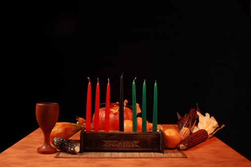 Kwanza Table Unlit Candles Low Angle 172999572