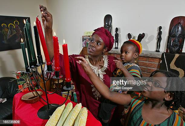 Kwanzaa as celebrated with Ginelle Skerritt and her son Ayinde 2 1/2 and daughter Chinaka 7 Kwanzaa is celebrated for seven day from Dec 26th to Jan...