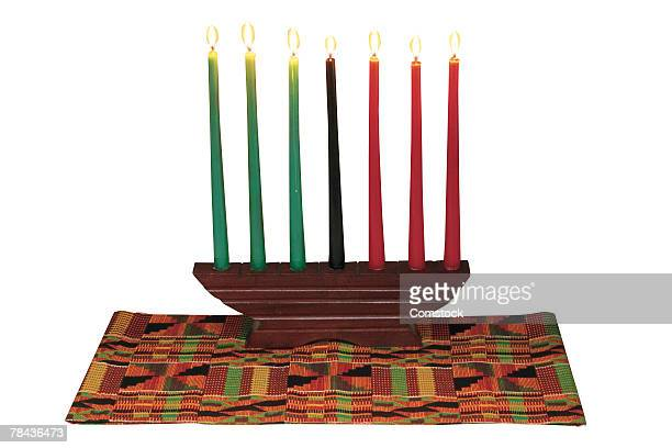 kwanzaa candelabra - kwanzaa stock pictures, royalty-free photos & images