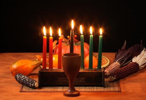 Kwanzaa Table Candles Glowing 157383500
