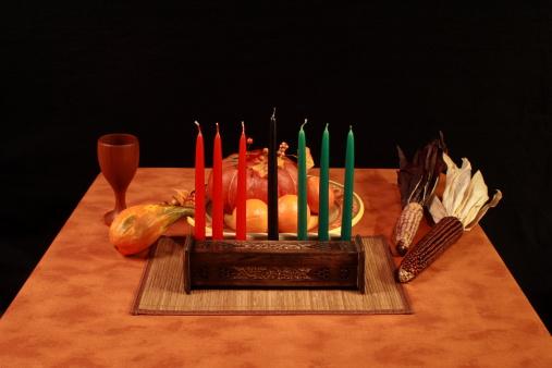 Kwanzaa Table Unlit Candles 172983402