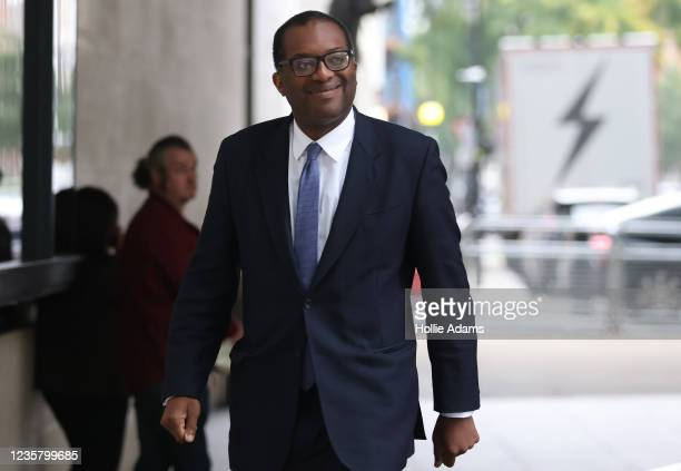 Kwasi Kwarteng, Secretary of State for Business, Energy and Industrial Strategy, arrives at BBC Studios to appear on the Andrew Marr show on October...
