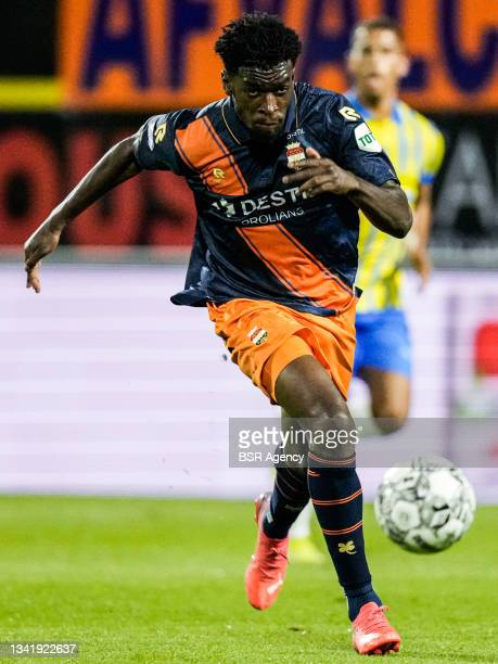 Kwasi Wriedt of Willem II during the Dutch Eredivisie match between RKC Waalwijk and Willem II at Mandemakers Stadion on September 21, 2021 in...