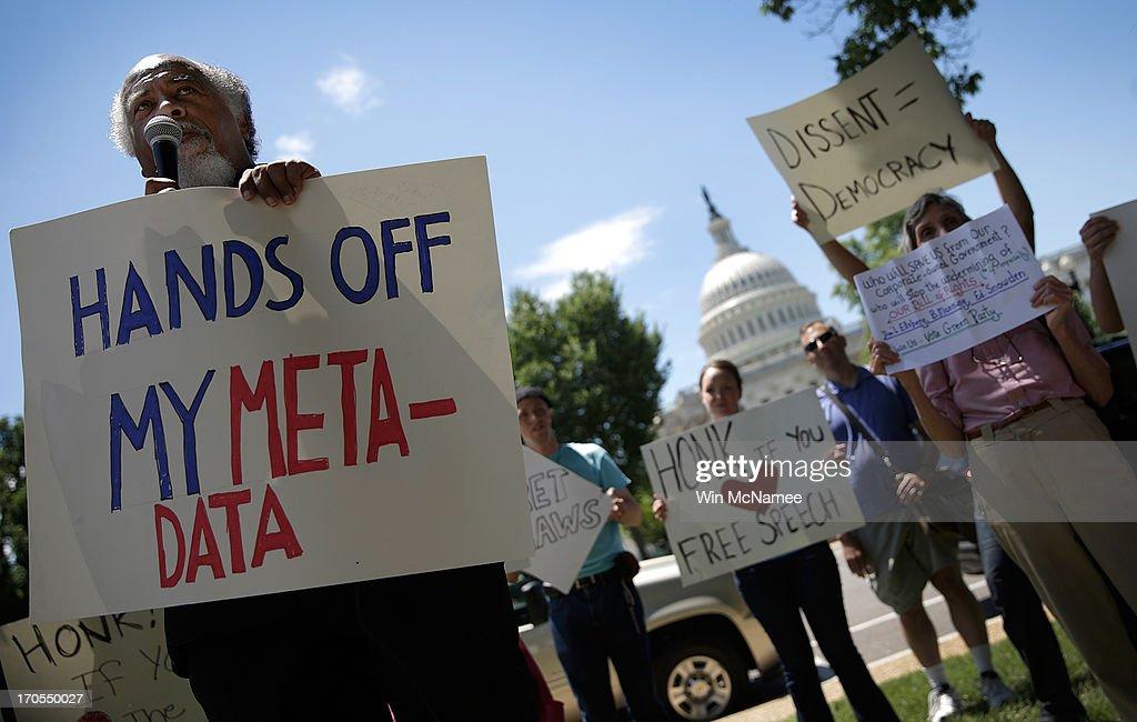 Activists Groups Protest NSA Surveillance Program : News Photo