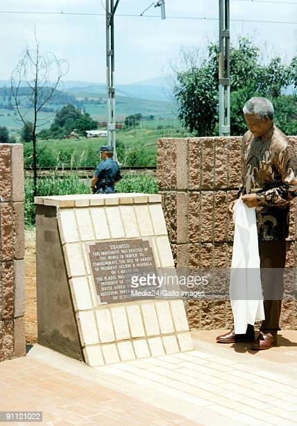 KwaZulu Natal Howick South Africa President Nelson Mandela was given honorary citizenship to the town of Howick and opened this monument to mark...