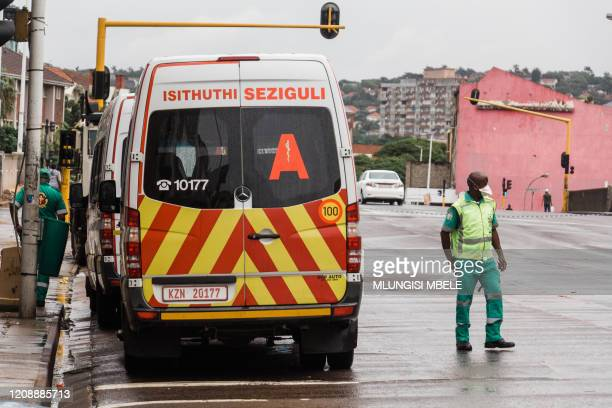 KwaZuluNatal law enforcement agencies and health authorities swoop on a building in Durban's Central Business District that is suspected of housing...