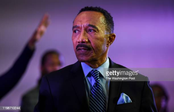 Kweisi Mfume speaks during a service at the Set The Captives Free church in Windsor Mill MD on December 8 2019