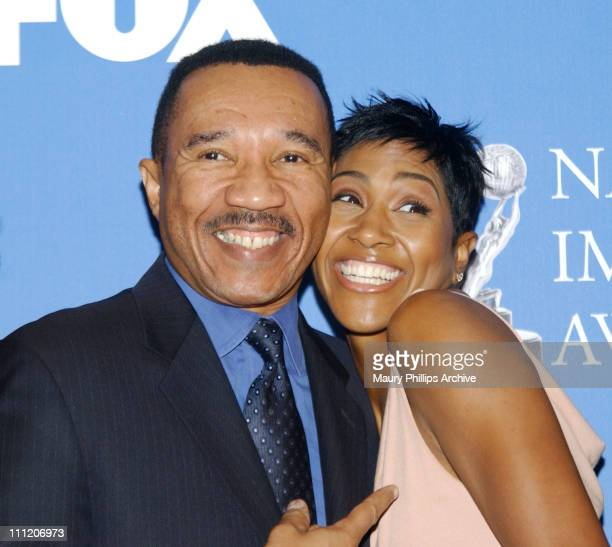 Kweisi Mfume Terri J Vaughn during The 34th NAACP Image Awards Nominations at Pacific Design Center in Hollywood California United States
