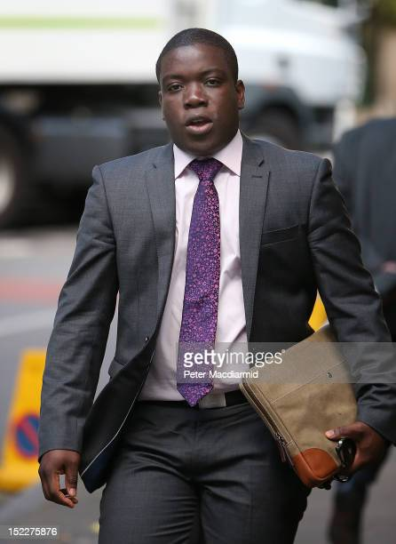 Kweku Adoboli arrives at Southwark Crown Court on September 18 2012 in London England Mr Adoboli denies two charges of fraud and two of false...