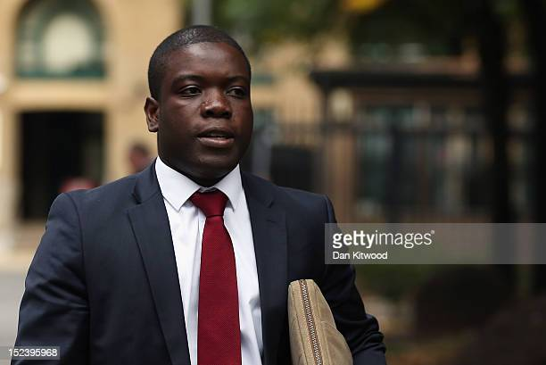 Kweku Adoboli arrives at Southwark Crown Court on September 20 2012 in London England Mr Adoboli denies two charges of fraud and two of false...