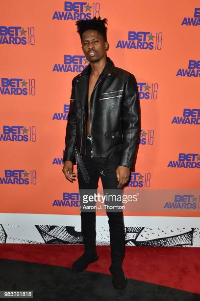 Kwesi Arthur poses in the press room at the 2018 BET Awards at Microsoft Theater on June 24 2018 in Los Angeles California