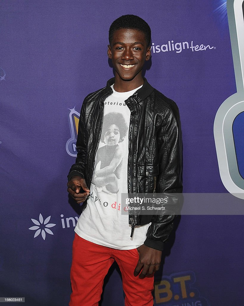 Kwesi Boakye arrives at the Radio Disney's 'N.B.T.' (Next BIG Thing) Season 5 winner and finale event at The Americana at Brand on December 8, 2012 in Glendale, California.