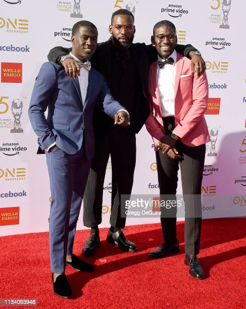Kwesi Boakye Kofi Siriboe and Kwame Boateng arrive at the 50th NAACP Image Awards at Dolby Theatre on March 30 2019 in Hollywood California