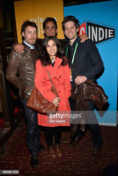Kwesi Collisson America Ferrera Pedro Gomez Millan and Ryan Piers Williams attend the SAG Indie Party during the 2014 Tribeca Film Festival at...