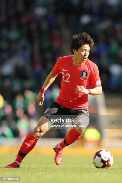 Kwon Changhoon of South Korea during an International Friendly fixture between Northern Ireland and Korea Republic at Windsor Park on March 24 2018...